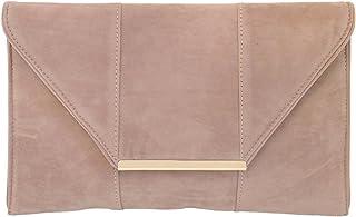 JNB Women's Faux Microsuede Envelope Clutch