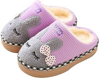 ba5711f50da34 KuaiLu Enfants en Bas âge Animal Chaussons Bottes Bottines Chaussures  Semelle en Caoutchouc Garçons Chaussons Filles