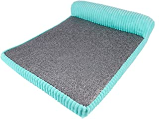 GBY Dog Bed Dog, one-Sided armrest Dog nest Rattan pet Cool mat, Corduroy Removable and Washable mat, Four Seasons Dog Cool mat cat nest, Suitable for Large, Medium and Small Dogs and Cats