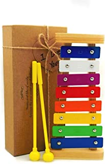 YYhappy childhood Xylophone for kids The First Birthday Gift for kids 1-3 Year Old Girl,Boys,Musical Kid Toy for Kids With Two Child-Safe Mallets for 2-6 Year Old for Making Fun Music