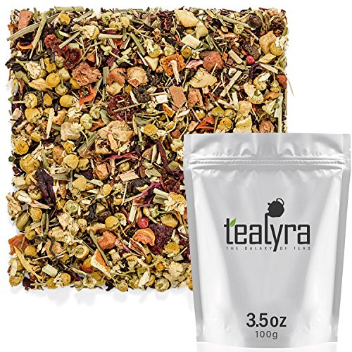 Tealyra - Healthy Edge - Immunity Booster - Detox - Weight Loss - Herbal Loose Leaf Tea Blend - Pu-Erh - Mate - Oolong Tea - Caffeine Level Low - All Natural Ingredients - 100g (3.5-ounce)