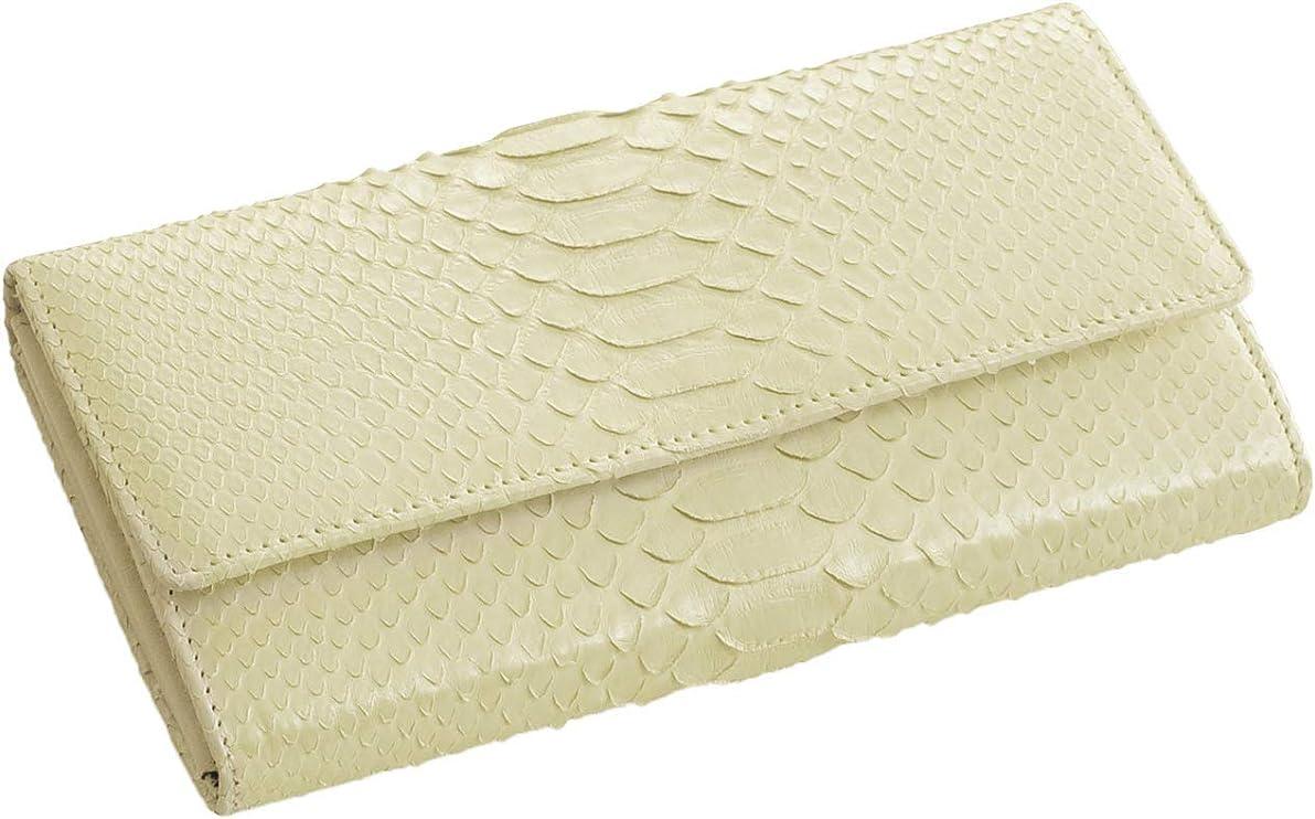 ペースト明るい工業用ヘビ ダイヤモンドパイソン ギャルソン 長財布 レディース 蛇革 大容量 多機能