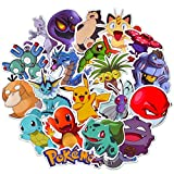 Pokemon Stickers for Water Bottle[100pcs] Cute Animal Vinyl Decals Laptop Phone Hydro Flask Car Computer Guitar Journal Notebook Ceiling Wall Helmet Skateboard Luggage PC Bike Bumper Waterproof