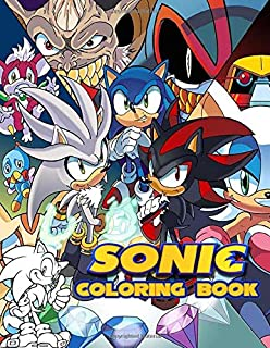 Sonic Coloring Book: Perfect Gift for Kids And Adults That Love Sonic The Hedgehog Animated With Over 50 Coloring Pages In High-Quality Images In Black And White. Great for Encouraging Creativity.