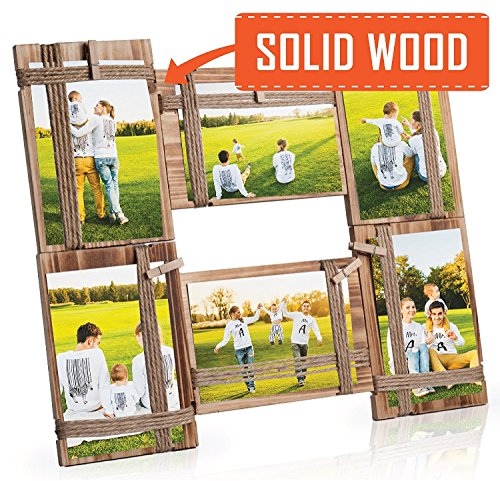 NICELY HOME Photo Frame Collage - Large Multiple Picture Frame Displays Six 4x4 or 4x6 Inch - Gift for Family Love & Best Friends