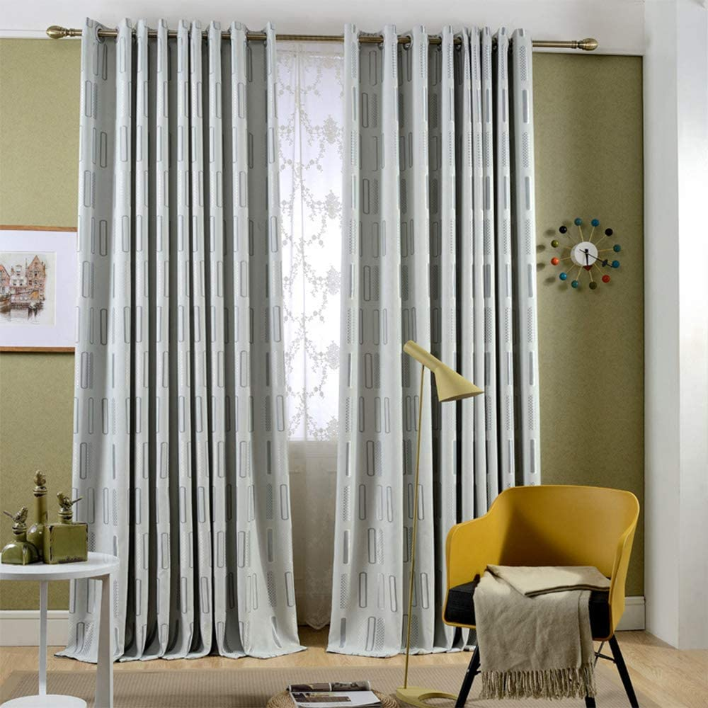 KMSG Grey 2020 新作 Geometric Pattern Design 新発売 Curtains 8 Jacquard Polyester