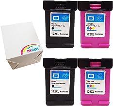 INKMATE Combo Pack 122xl Ink Cartridge 2 Black & 2 Color for Deskjet 1000 1050 2050 2050s 3000 3050A (4 Pack)