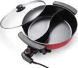 DEAR-JY Hot Pot,6L Fondue Electrique,Pot Chaud électrique coréen Multifonction antiadhésif Domestique,32 cm Outil de Cuiss...