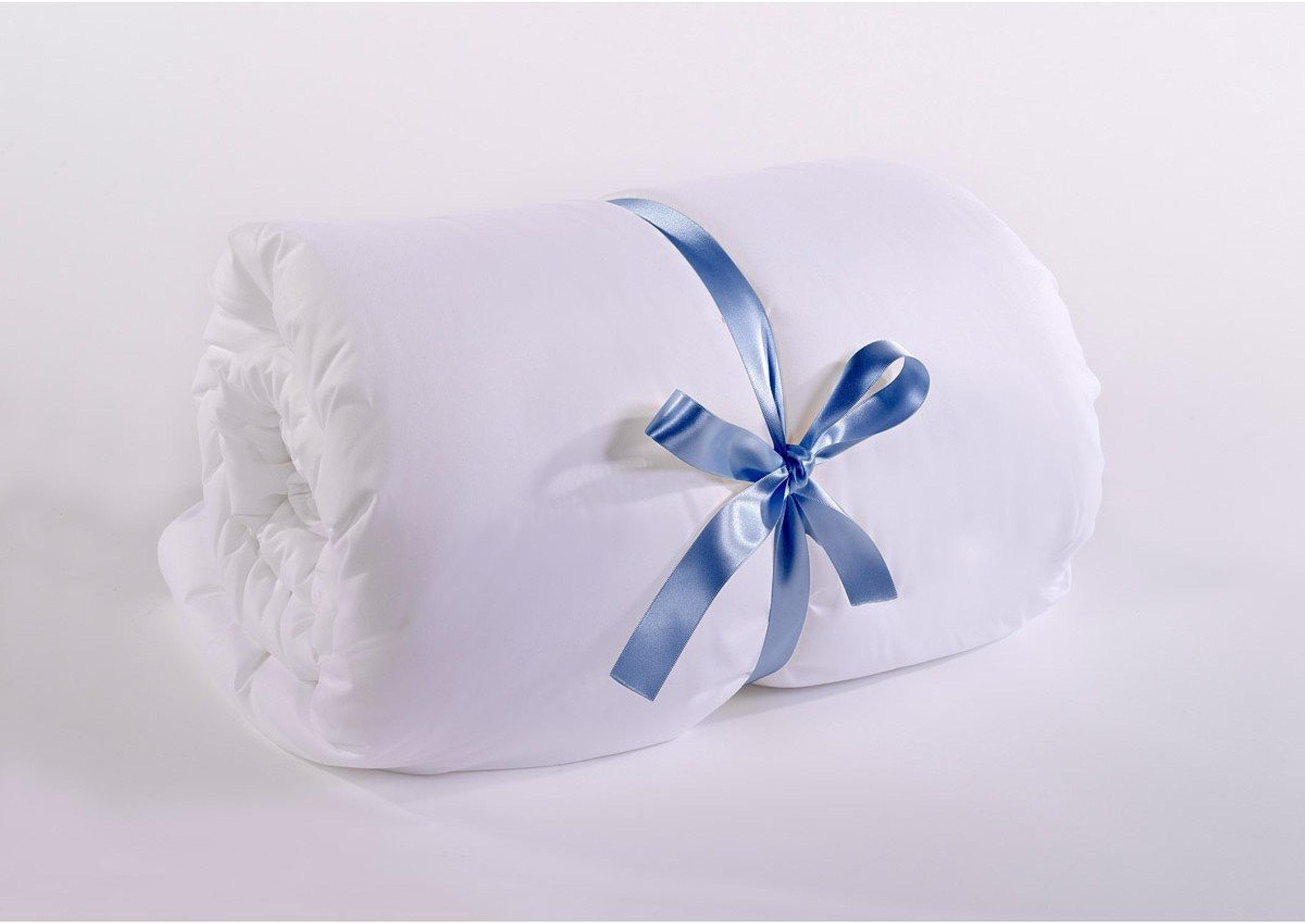 Fine Parure de lit Lit avec Couette édrougeon Respirer Climate Control Housse de Couette Couleur Blanc Quatre Saisons TOG Single