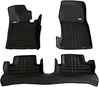 TuxMat Custom Car Floor Mats for Mini Cooper/Cooper S Convertible 2009-2015 Models- Laser Measured, Largest Coverage, Waterproof, All Weather.The BestMini Cooper Accessory. (Full Set - Black)