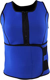 FITYLE Compression Sauna Tank Top Vest Underbust Corset Body Shaper for