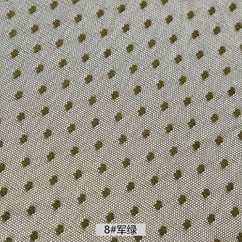 LLine modieuze mesh kant stof jacquard mesh stof bruiloft stof voor naaien jurk en meisje tule rok 45x150cm, 8 groen