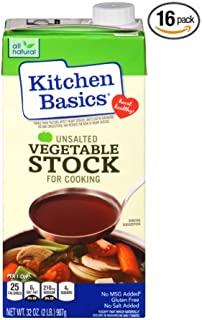 Kitchen Basics Vegetable Stock, Unsalted, 32 Ounce - (Pack of 16)