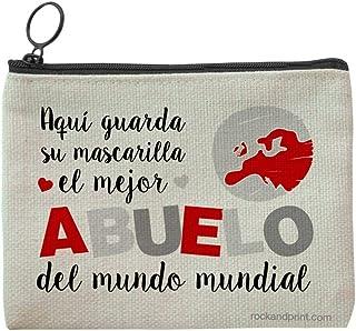 Funda mascarilla regalo ABUELO personalizada guardamascarilla mejor abuelo mundo mundial