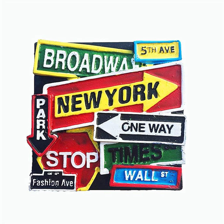 拒否豊かにする夫婦Weekino ニューヨークアメリカアメリカ冷蔵庫マグネット3D樹脂観光都市旅行お土産コレクションギフト強い冷蔵庫ステッカー