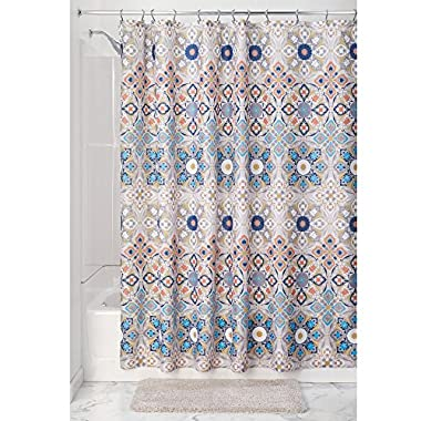 InterDesign Multi Clover Medallion Fabric Shower Curtain - Tan