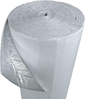 US Energy Products (4ft x 100ft) NASATECH White DOUBLE Bubble Aluminum Reflective Aluminum Insulation Roll Solid Metal Building Vapor Barrier - White Concrete Commercial Residential House Buildings