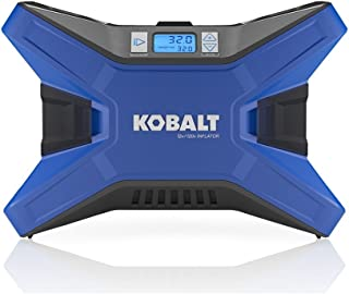Kobalt 120v & 12v Portable Air Compressor Inflator Tire Pump Nozzle Needles 120 PSI LED Display