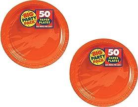 Amscan Dessert Plates 7 Inch Orange