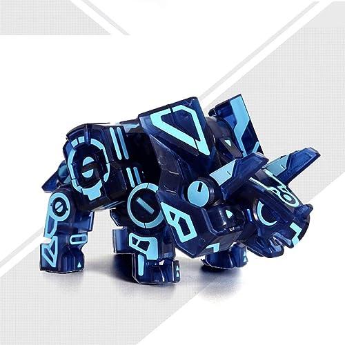 Toy Kinderspielzeug - Lernspielzeug - Zauberwürfel Spielzeug - Kreatives Spielzeug - Dekompressionsspielzeug - Triceratops Spielzeug (Farbe   Neon Blau Version)