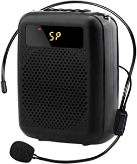 NJC Rechargeable Voice Amplifier with Wireless Microphone, Portable PA System, Support U Disk/TF for Tour Guides, Teacher...