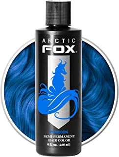 Arctic Fox Vegan and Cruelty-Free Semi-Permanent Hair Color Dye (8 Fl. Ounces, Poseidon)