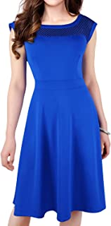 Dresses for Women Casual Summer Sleeveless Dress A-Line Round Neck Party Cocktail Dresses