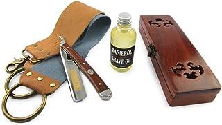 "A.P. Donovan - Excellente 7/8""Razor Set - en acier au carbone avec un manche en bois d'acajou, y compris le rasage, estrop..."