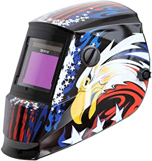 Antra AH6-660-6217 Solar Power Auto Darkening Welding Helmet with AntFi X60-6 Wide Shade Range 4/5-9/9-13 with Grinding Feature Extra Lens Covers Good for TIG MIG MMA Plasma