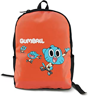 The Amazing World Of Gumball Lightweight Teenager Unisex Backpack/schoolbag/bag Black One Size