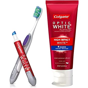 Amazon Com Colgate Optic White Toothpaste And Whitening Pen 2 In