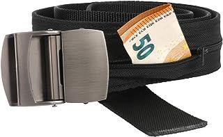 Cinturón de Viaje con Cremallera Interior para Guardar y Ocultar Dinero | Bolsillo Secreto para esconder Dinero y Tarjetas en Viajes | Accesorios de Viaje para Hombre: cinturón con Compartimento