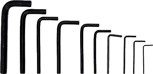 Rolson 40352 Set di chiavi esagonali, 1,5-10 mm, Confezione da 10 chiavi