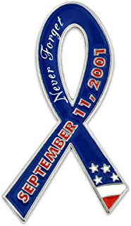 PinMart 9/11 September 11 We Will Never Forget Awareness Ribbon Lapel Pin