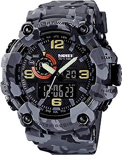 Mens Analog Digital LED 50M Waterproof Outdoor Sport Watch Military Multifunction Casual Dual Display 12H/24H Stopwatch Ca...