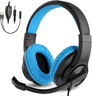 BlueFire 3.5mm PS4 Gaming Headset Bass Stereo Over-Ear Gaming Headphone with Microphone and Volume Control for PS4 / New X...