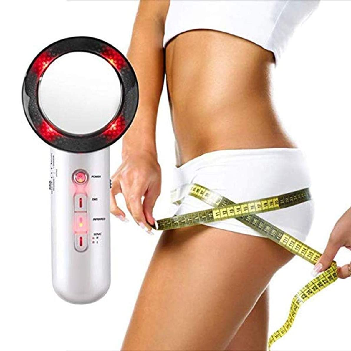 本体冒険者典型的なEMSの赤外線ライト振動と超音波セルライトの脂肪質の取り外しのマッサージャーの腹減量