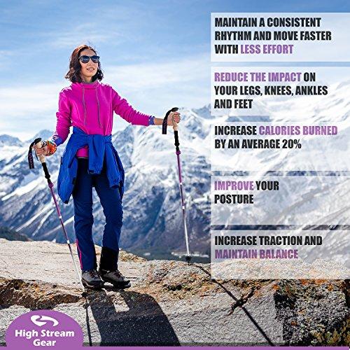 High Stream Foldable Trekking Poles For Women