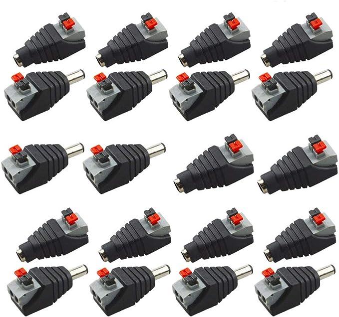 16 opiniones para Senven® 20 Pcs profesional conector DC Power Jack & Tipo botón sin tornillos
