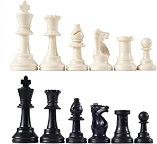 Chess Pieces - Ehonestbuy Resin Chess Set – Pieces Only – No Board - 3 1/3