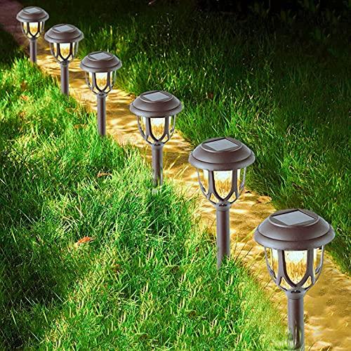 Jooayou Pathway Lights Outdoor, 6 Pcs Garden Solar Lights Outdoor...