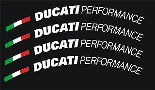 Graphicsplus123 Ducati Performance Wheel Decal Set (White)