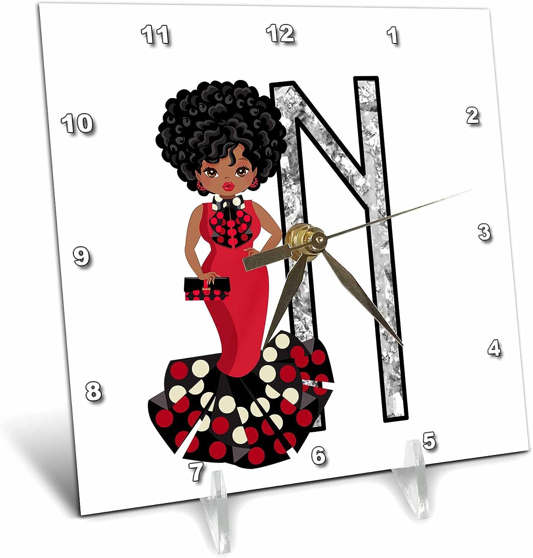 3dRose Glamour Black Girl Image of - Diamonds Monogram Cl N San Francisco Mall Desk Excellent