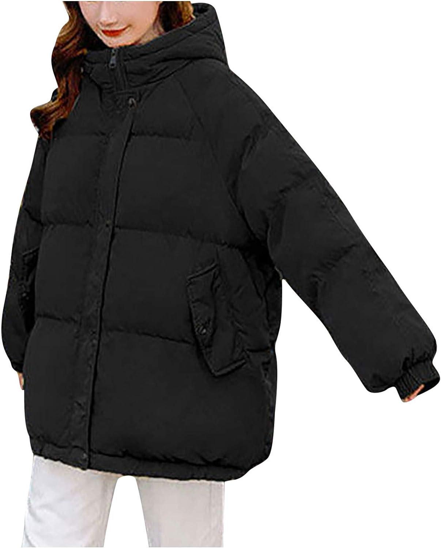 Cardigo Winter Coats for Women Ladies Warm Hoodie Solid Color Button Zipper Thicken Down Jackets Slim Outerwear