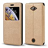 Acer Liquid Z530 Case, Wood Grain Leather Case with Card