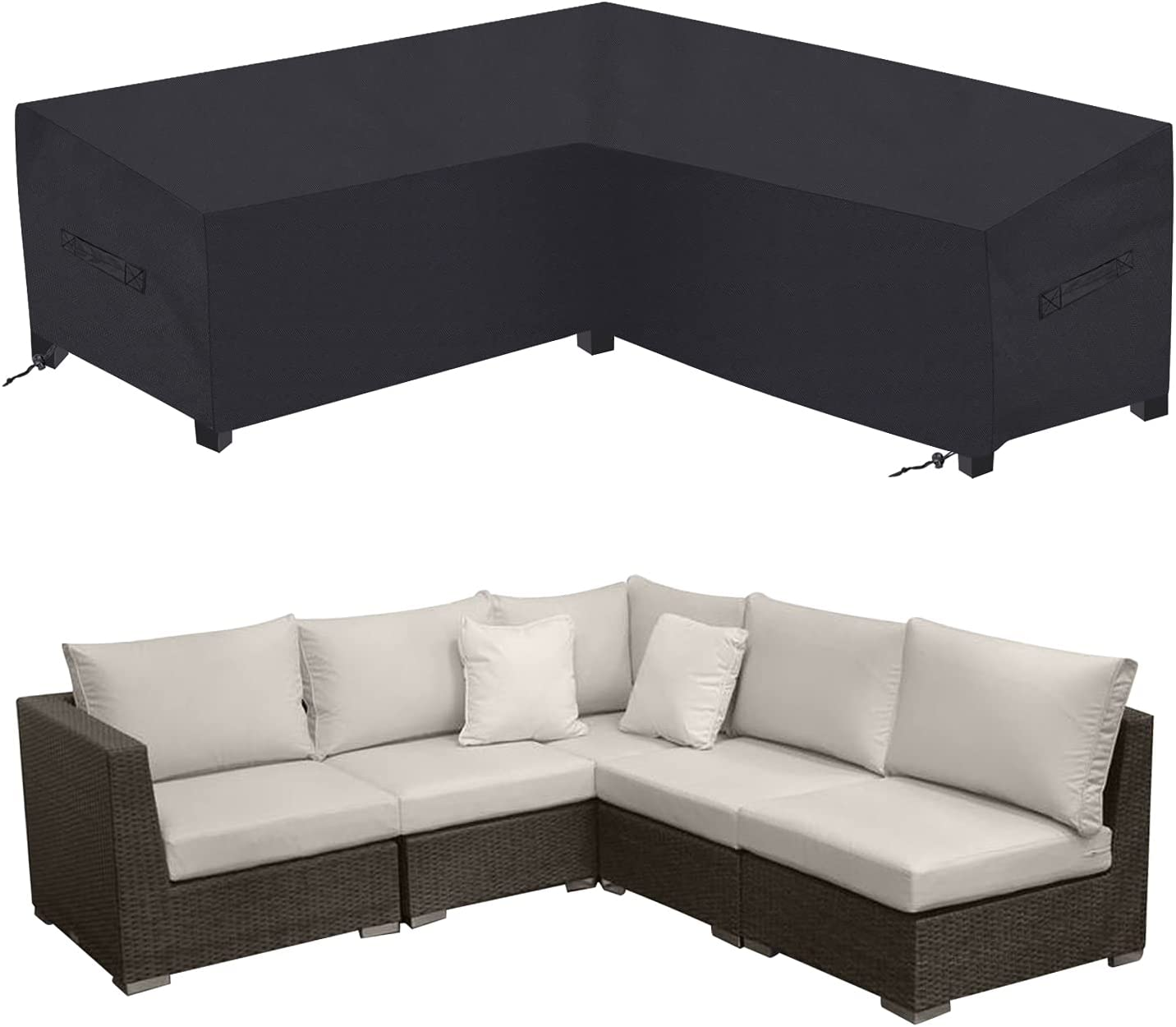 Outdoor Sectional Sofa Cover Waterproof Heavy Duty 85