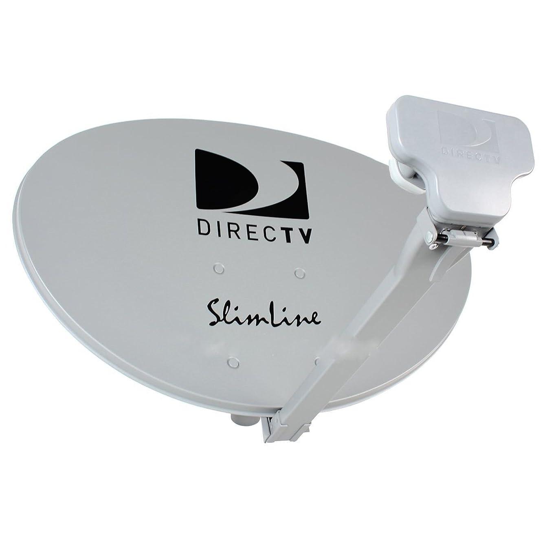 4 KIT SWM DIRECTV KA/KU HD SL3 SLIMLINE MPEG4 3 LNBF COMPLETE DISH ANTENNAS W/POWER SUPPLY 4 4WAY SPLITTERS