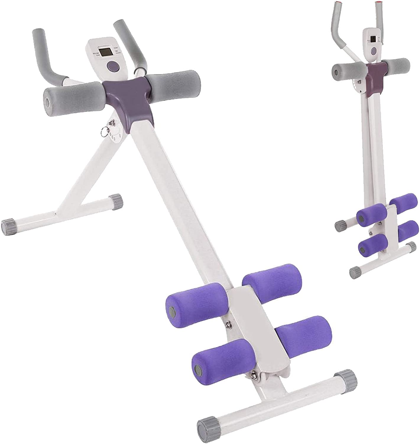 Ab Workout Max 74% OFF Machine Abdominal Trainer Shaper Body Virginia Beach Mall Foldable Whole