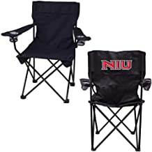 VictoryStore Outdoor Camping Chair - Northern Illinois University NIU Black Folding Camping Chair with Carry B