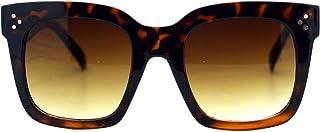 Womens Oversized Fashion Sunglasses Big Flat Square Frame UV 400